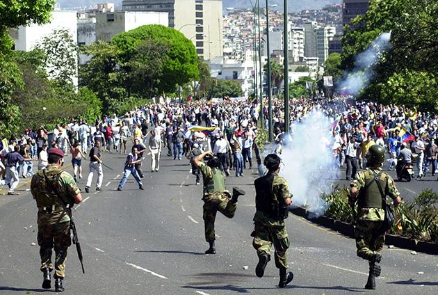 Marcha del 11 de Abril de 2002 - Frente a El Calvario